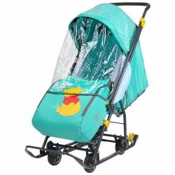 Санки коляска Disney Baby 1 Винни изумруд