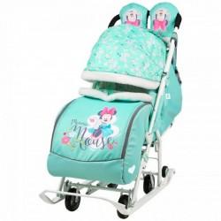 Санки коляска Disney Baby 2 Микки Маус мятный