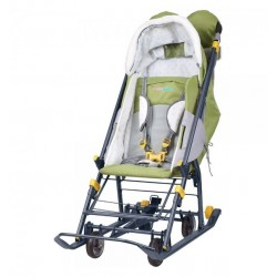 Санки коляска Наши Детки 2 Летчик оливковый