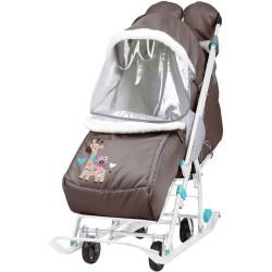 Санки коляска Наши Детки 2 Жираф шоколад