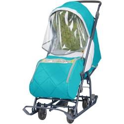 Санки коляска Наши Детки 3 бирюзовый