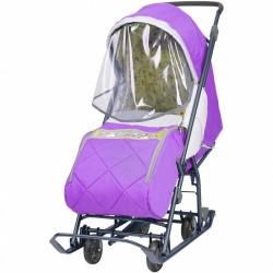 Санки коляска Наши Детки 3 лаванда