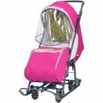 Санки коляска Наши Детки 3 малиновый