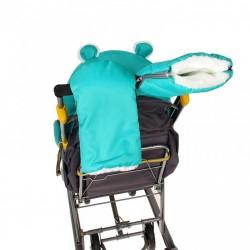 Санки коляска Ника Детям 7-2 Люкс Лиса изумруд