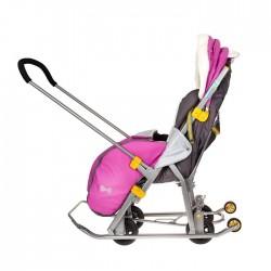 Санки-коляска Ника Детям 7-2 Люкс Снеговик орхидея