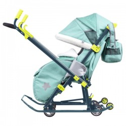 Санки коляска Ника Детям 7-3 Зеленый Green