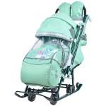 Санки коляска детская Ника Детям 7-4 Мятный