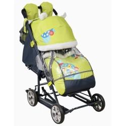 Санки коляска Ника Детям 8-2 Жираф с выдвижными полозьями