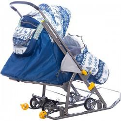 Санки коляска Наши Детки Скандинавия синий