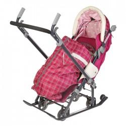 Санки коляска Ника Детям 7-4 Вишневый