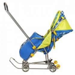 Санки коляска Умка 3 - 1 Мишка синий