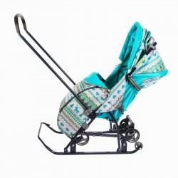 Санки коляска Умка 3 - 1 Вязанный бирюза