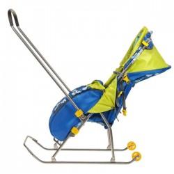 Санки коляска Умка 3 Мишка синий