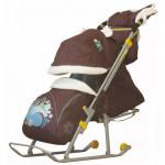 Санки коляска Ника Детям 6 Белочка шоколадный