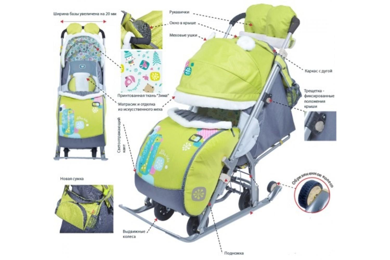 санки-коляска ника детям 7-2 фото