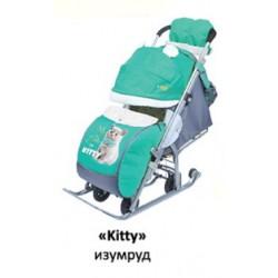 """Санки коляска Ника Детям 7 - 2 Люкс """"Kitti"""""""