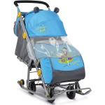 Санки коляска Ника Детям 7 Фокусник с выдвижными колесами