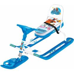Снегокат детский Тимка Спорт 4-1 Ми-Ми-Мишки Белый